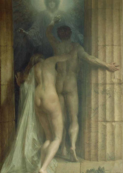 Til Death Us Do Part Greeting Card featuring the painting Till Death Us Do Part by SCH Goetze