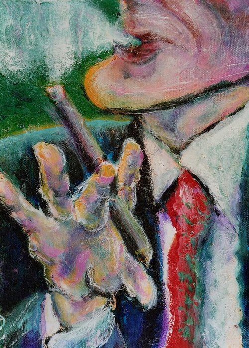 Man Greeting Card featuring the painting Time Out by Dennis Tawes