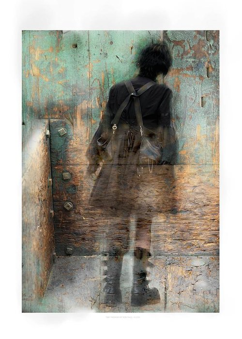Girl Greeting Card featuring the photograph Time Passages - Beyond All Barriers by Bob Salo