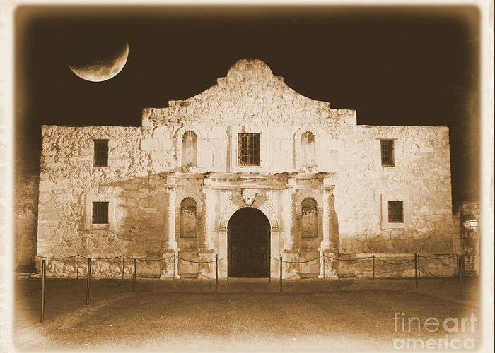 The Alamo Greeting Card featuring the photograph Timeless Alamo by Carol Groenen