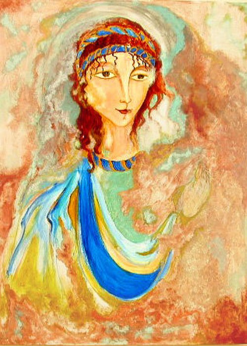 Original Art Greeting Card featuring the greeting card Timeless by Rae Chichilnitsky