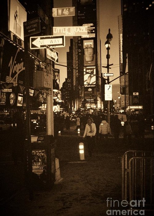 New York Greeting Card featuring the photograph Times Square by Debbi Granruth