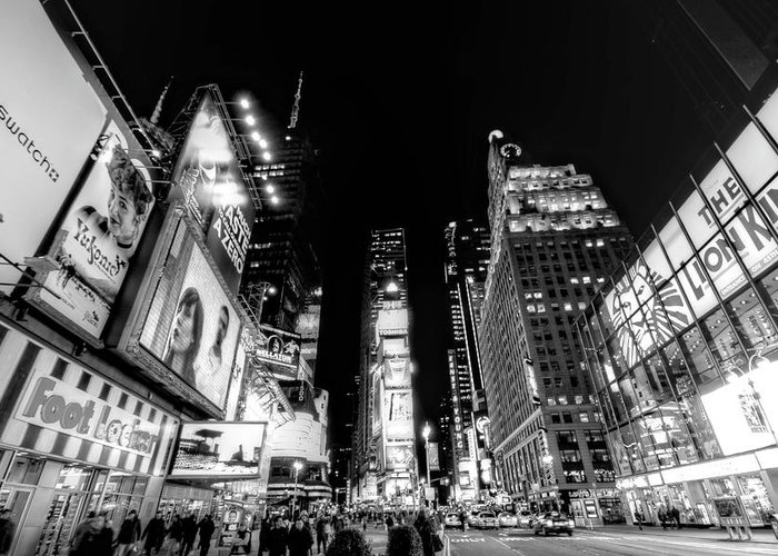 Times Square Greeting Card featuring the photograph Times Square Don't Shine As Bright As You by Ariane Moshayedi