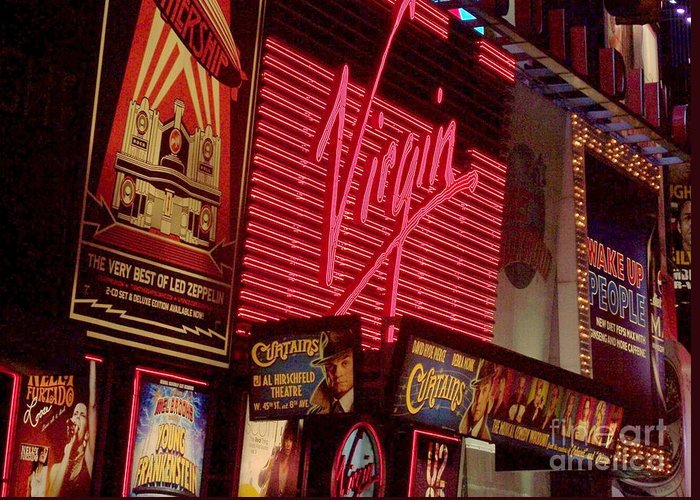 Times Square Greeting Card featuring the photograph Times Square Night by Debbi Granruth