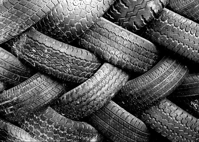 Tires Photographs Greeting Cards