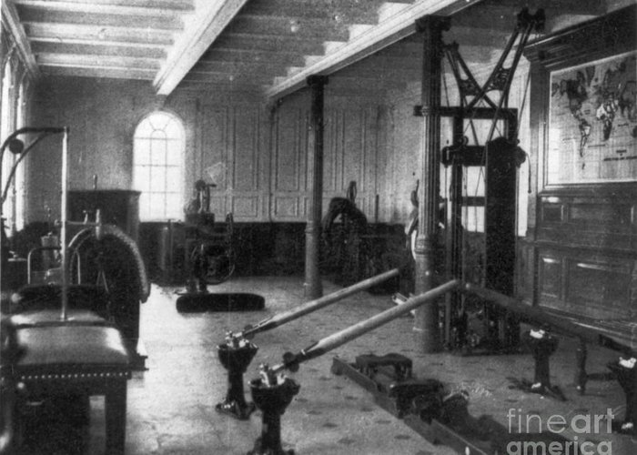 1912 Greeting Card featuring the photograph Titanic: Exercise Room, 1912 by Granger