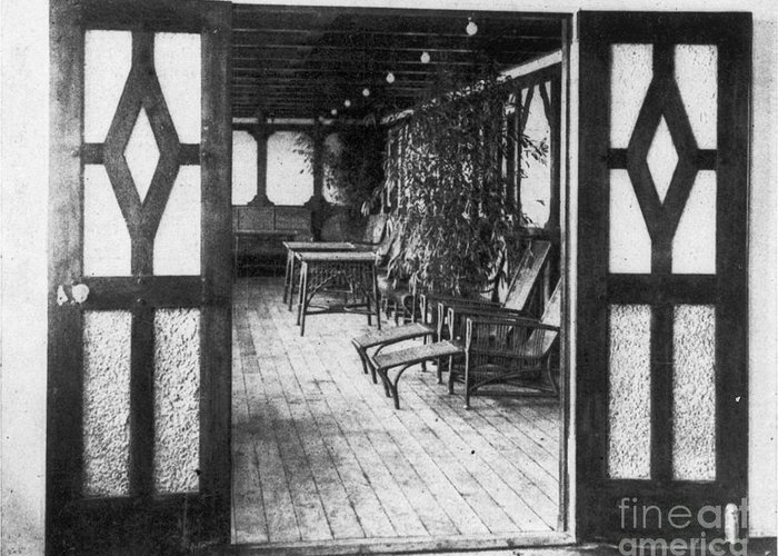 1912 Greeting Card featuring the photograph Titanic: Private Deck, 1912 by Granger