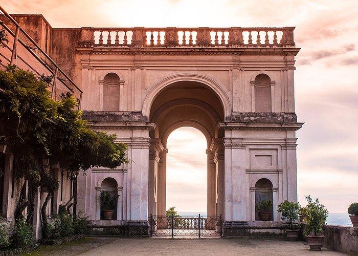 Italy Greeting Card featuring the photograph Tivoli Arch by Karen Regan