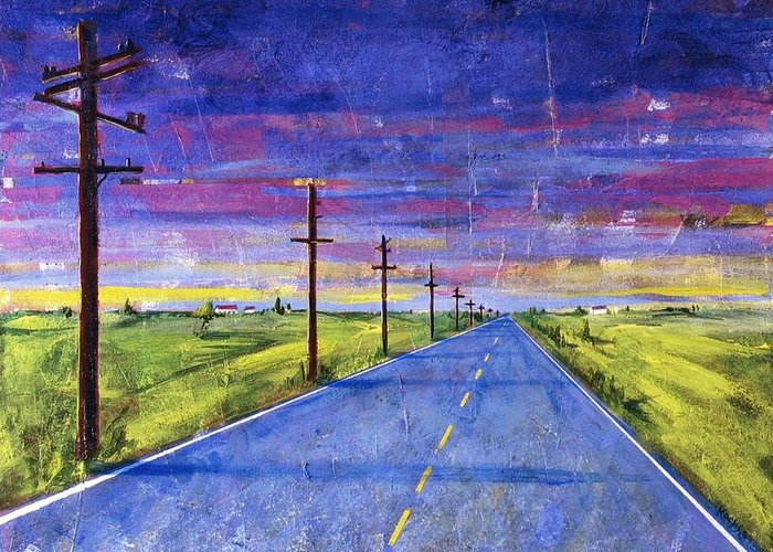 Road Greeting Card featuring the painting To Be With You by Rollin Kocsis