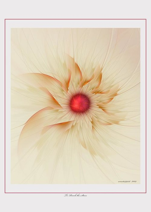 Fractal Greeting Card featuring the digital art To Reach The Stars by Gayle Odsather