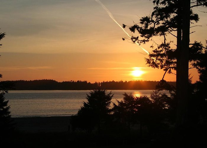 Sunset Greeting Card featuring the photograph Tofino Sunset Ss1027 by Mary Gaines