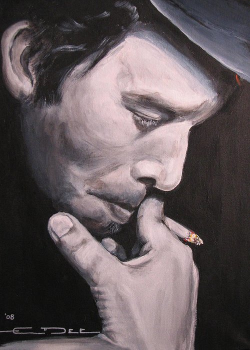 Tom Waits Greeting Card featuring the painting Tom Waits Two by Eric Dee