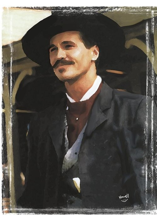 Tombstone Doc Holliday Greeting Card For Sale By Peter Nowell