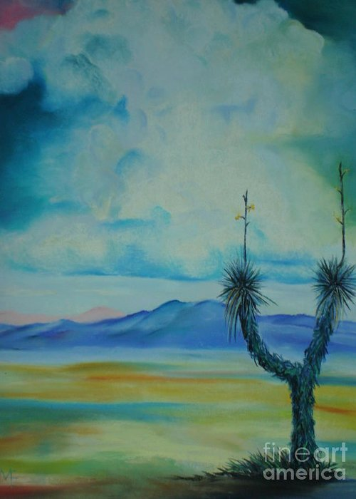 Arizona Greeting Card featuring the pastel Tombstone by Melinda Etzold