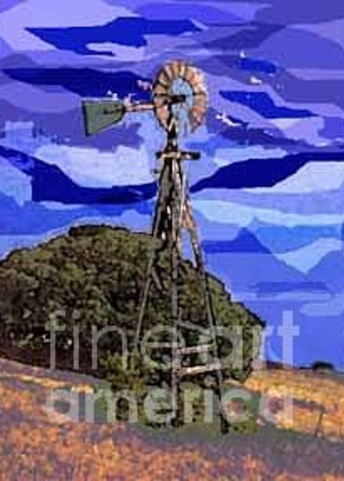Windmill Greeting Card featuring the photograph Tom's Windmill by David Carter