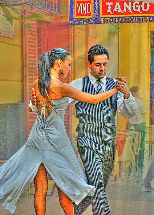 Tango Greeting Card featuring the photograph Too Tango by Francisco Colon