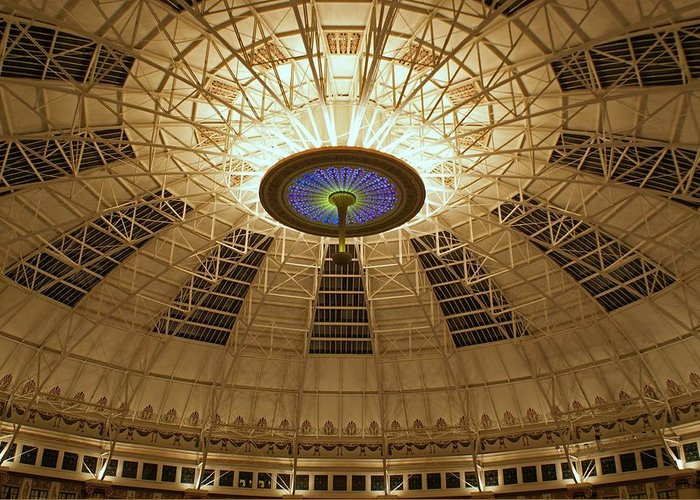 Domes Greeting Card featuring the photograph Top Of The Dome by Sandy Keeton