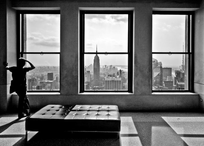 2010 Greeting Card featuring the photograph Top Of The Rock by Thomas Splietker