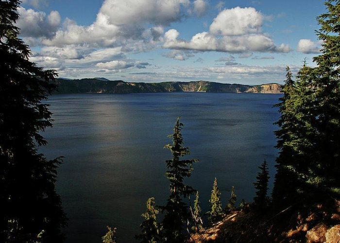 Peaceful Greeting Card featuring the photograph Top Wow Spot - Crater Lake In Crater Lake National Park Oregon by Christine Till