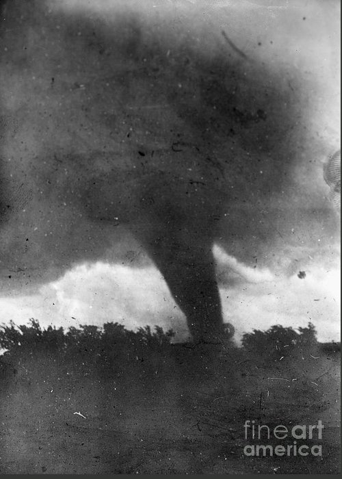 1913 Greeting Card featuring the photograph Tornado, C1913-1917 by Granger