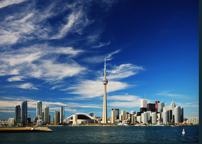 Toronto Greeting Card featuring the photograph Toronto Skyline by Andriy Zolotoiy
