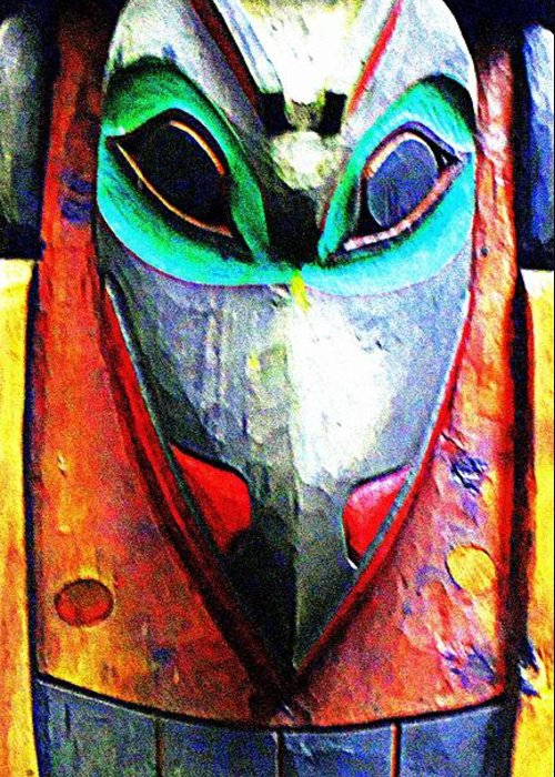 Totem Greeting Card featuring the photograph Totem 7 by Randall Weidner