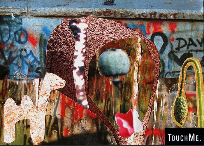 Kamelogana Greeting Card featuring the mixed media Touch Me by Christoph Fuhrken