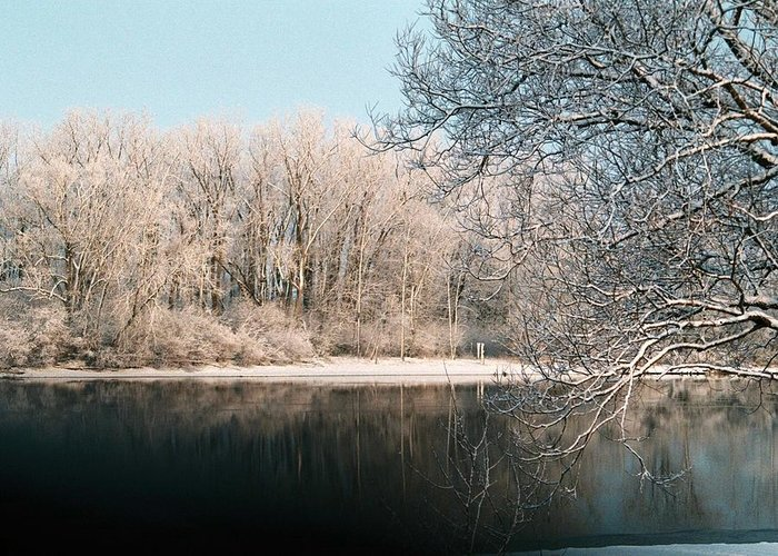 Snow Greeting Card featuring the photograph Touch Of Snow by Jennifer Englehardt