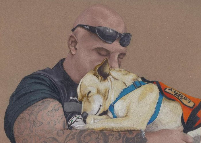 Tattoo Greeting Card featuring the drawing Tough Love by Stacey Jasmin