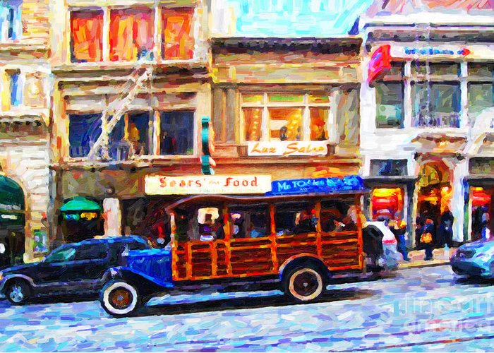 Stockton Street Greeting Card featuring the photograph Touring The Streets Of San Francisco by Wingsdomain Art and Photography