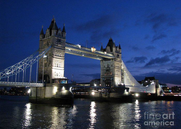 London Greeting Card featuring the photograph Tower Bridge by Amanda Barcon
