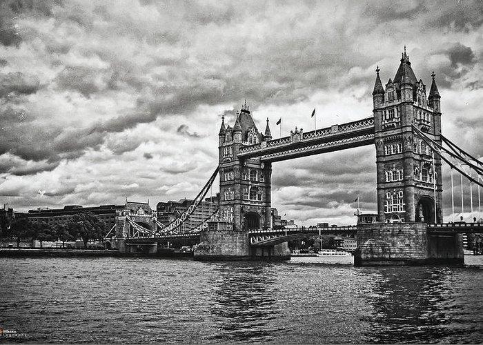 Bridge Greeting Card featuring the photograph Tower Bridge by Nicola Maria Mietta