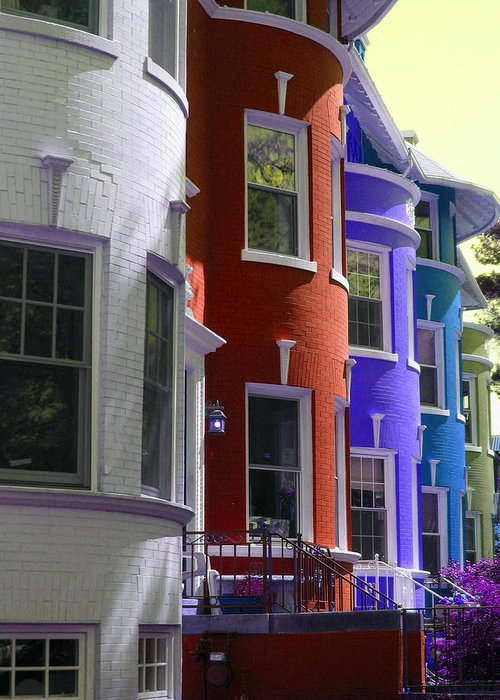 Townhouses Greeting Card featuring the photograph Townhouse Row 2 by Sean Owens