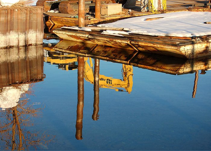 Photography Greeting Card featuring the photograph Tractor Reflections by Heather S Huston