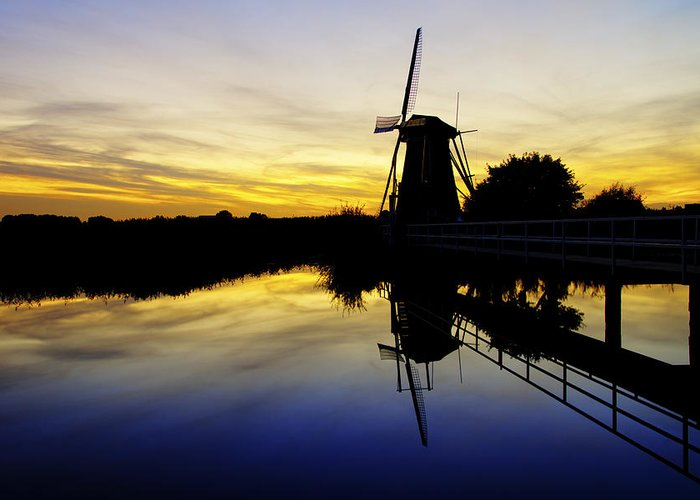 Sky Greeting Card featuring the photograph Traditional Dutch by Chad Dutson