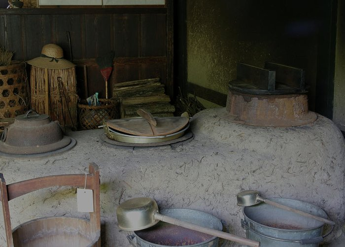 Japan Greeting Card featuring the photograph Traditional Japanese Kitchen by Masami Iida