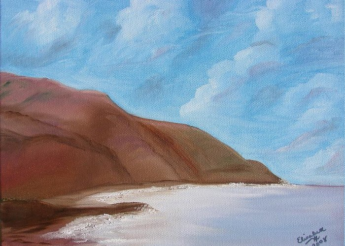 Landscape Greeting Card featuring the painting Tranquil Ocean by Liz Vernand