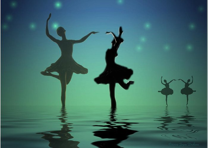 Ballerina Greeting Card featuring the photograph Tranquil Persuasion by Joyce Dickens
