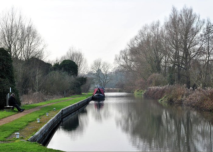 Canal Greeting Card featuring the photograph Tranquil Waters by Andrew Baxter