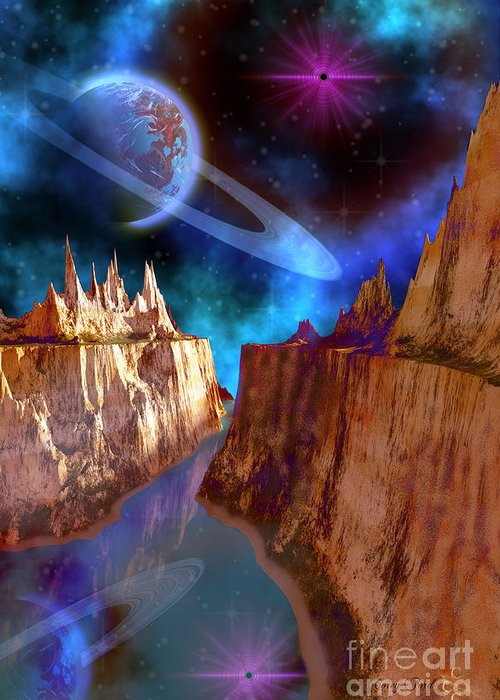 Space Art Greeting Card featuring the painting Transcendent by Corey Ford