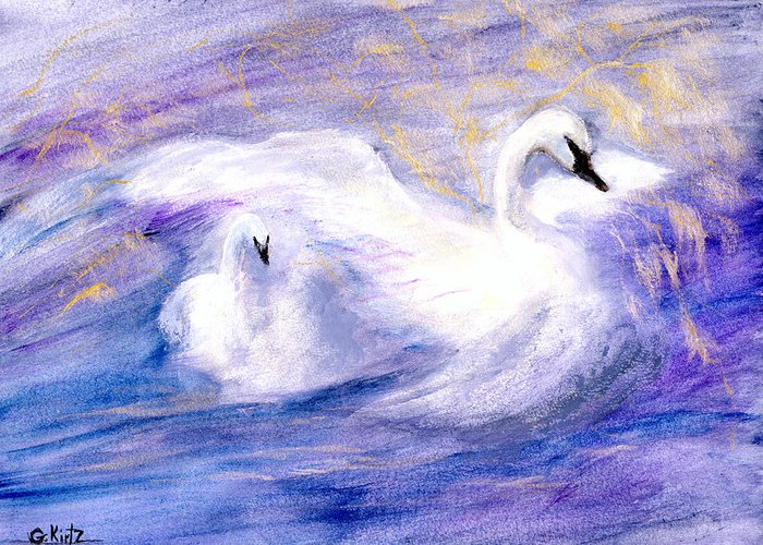 Birds Greeting Card featuring the painting Transformation by Gail Kirtz