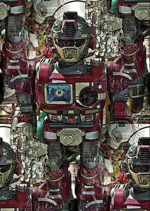 Robot Greeting Card featuring the photograph Transformique For Sale by Gwyn Newcombe