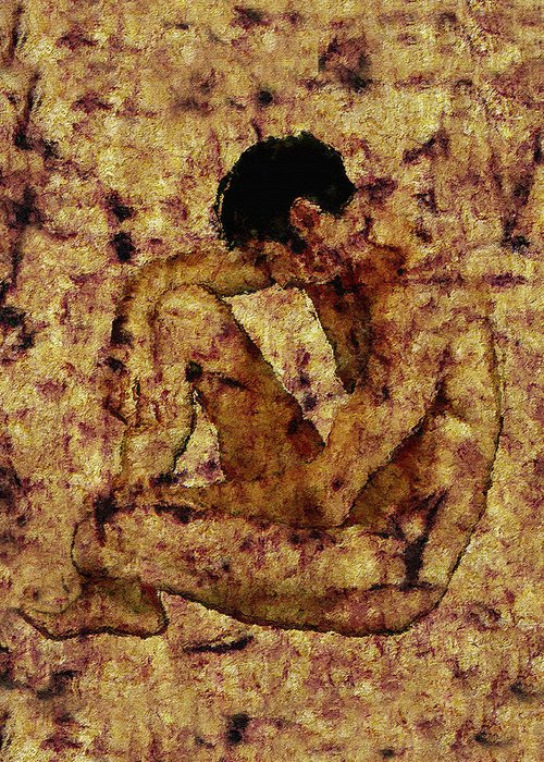 Nude Greeting Card featuring the photograph Transition by Kurt Van Wagner