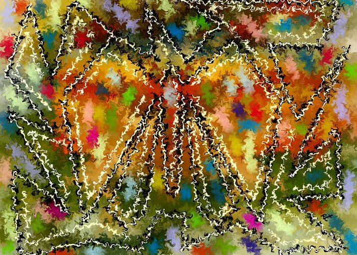 Contemporary Greeting Card featuring the painting Trapped Butterfly by Rafi Talby
