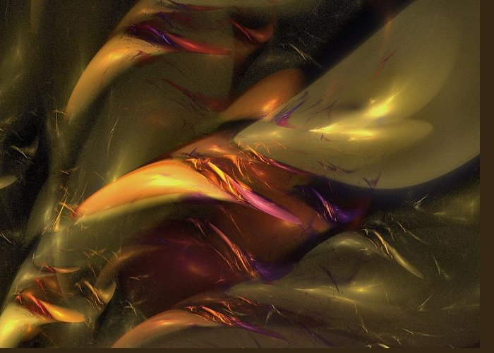 Amber Greeting Card featuring the digital art Trapped In Amber by NirvanaBlues