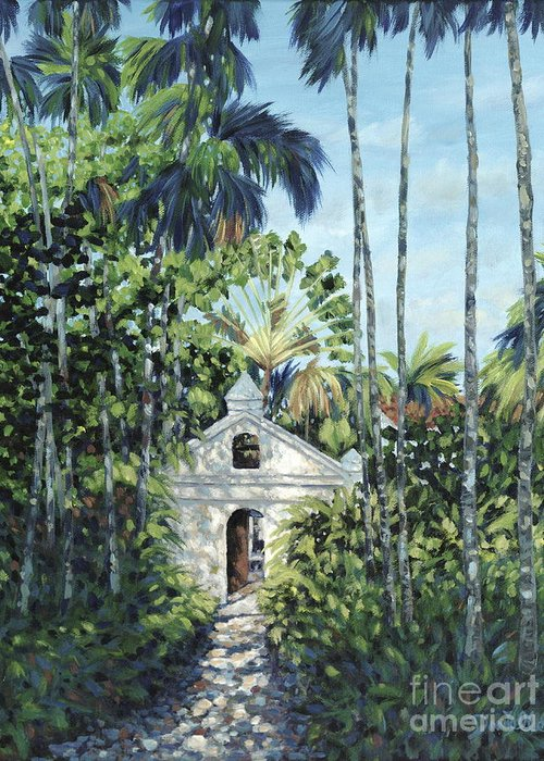 Fisher Island Greeting Card featuring the painting Travelers Path by Danielle Perry
