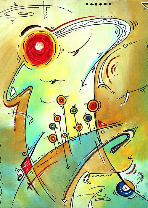 Original Greeting Card featuring the painting Traveling Band Original Painting Madart by Megan Duncanson