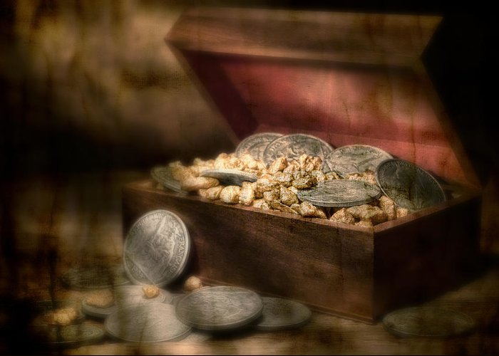 Money Greeting Card featuring the photograph Treasure Chest by Tom Mc Nemar