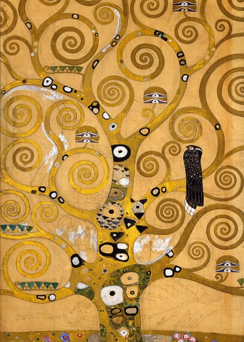 Klimt Greeting Card featuring the painting Tree Of Life by Gustav Klimt