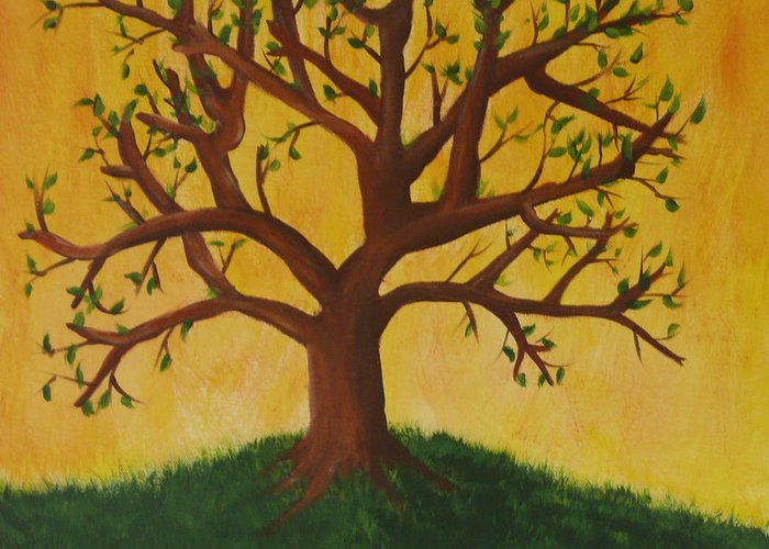 Tree Greeting Card featuring the painting Tree Of Life by Jennifer Hernandez